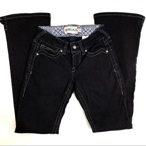 Ariat Black Contrast Stitch Boot Cut Jeans